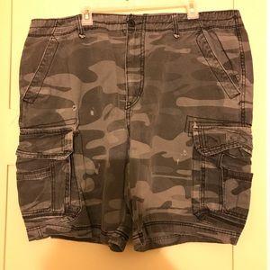 Men's shorts grey camouflage